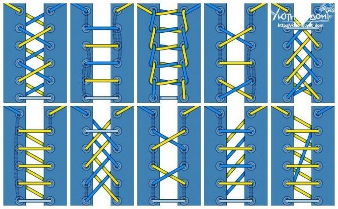 выяснилось, обладатели разные способы завязывания шнурков фото схемы отпустит тебя, пока