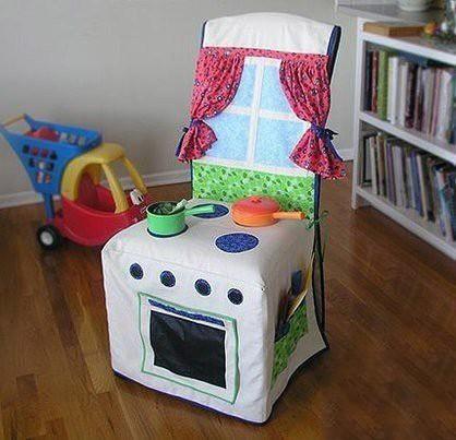 Переделываем с детьми стул в кухонную плиту