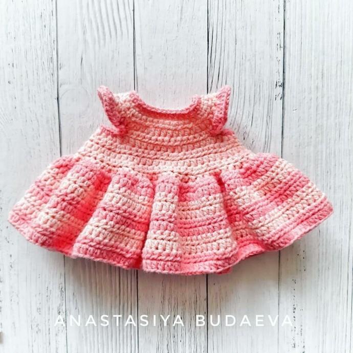 Платье для вязаных игрушек