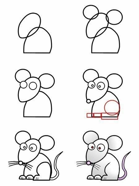 Учимся с детьми рисовать животных