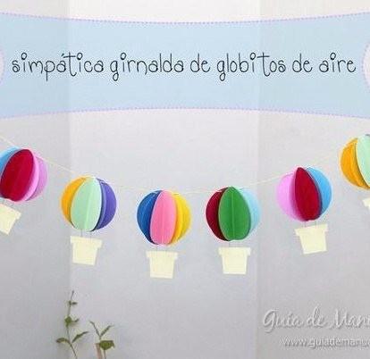 Яркая гирлянда с объёмными воздушными шарами