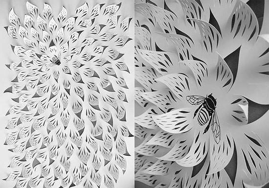 Объемные цветы из одного листа бумаги