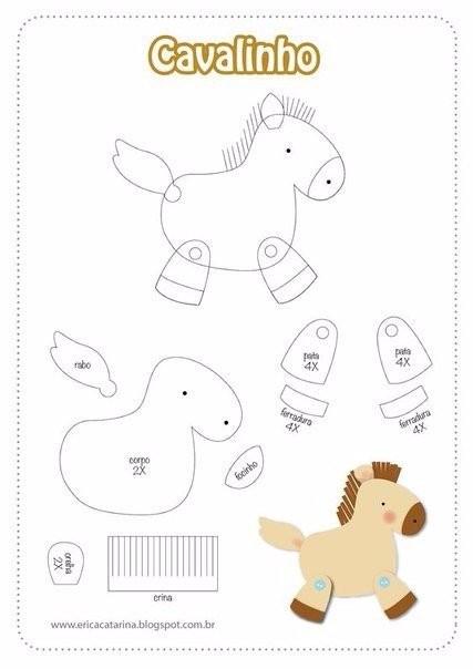Шьем лошадок с детьми