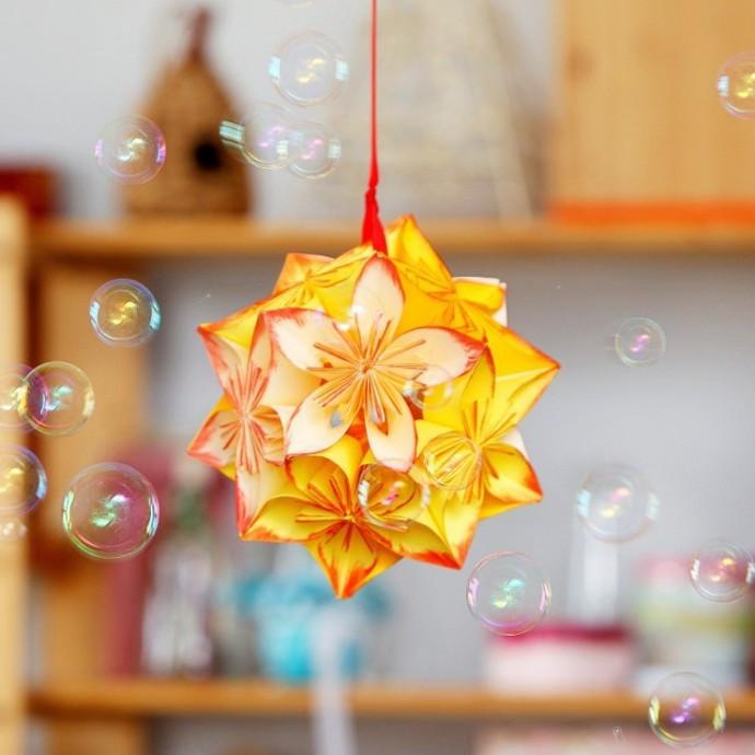 Цветочный шар кусудама