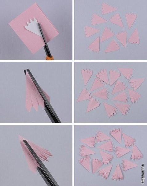 Красивые цветы из бумаги