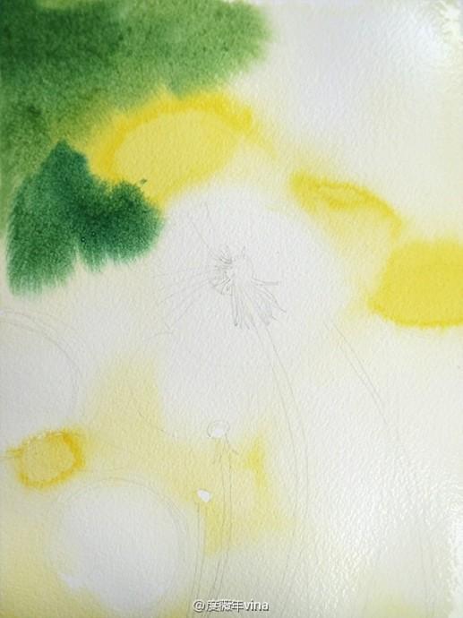 Рисуем с детьми одуванчики акварелью