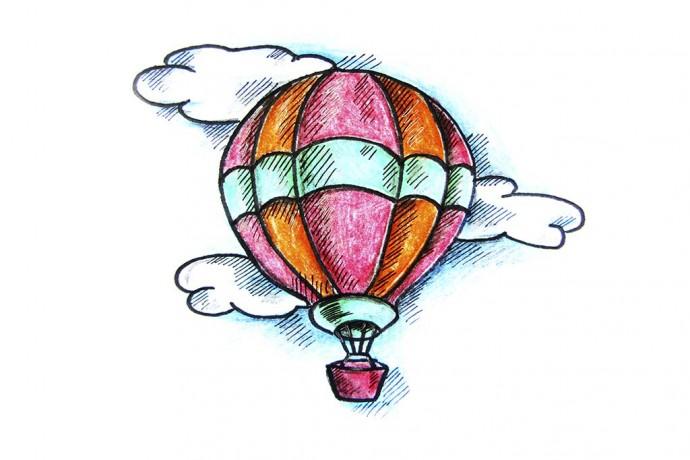 Рисуем воздушный шар