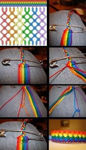 Схемы плетения браслетиков