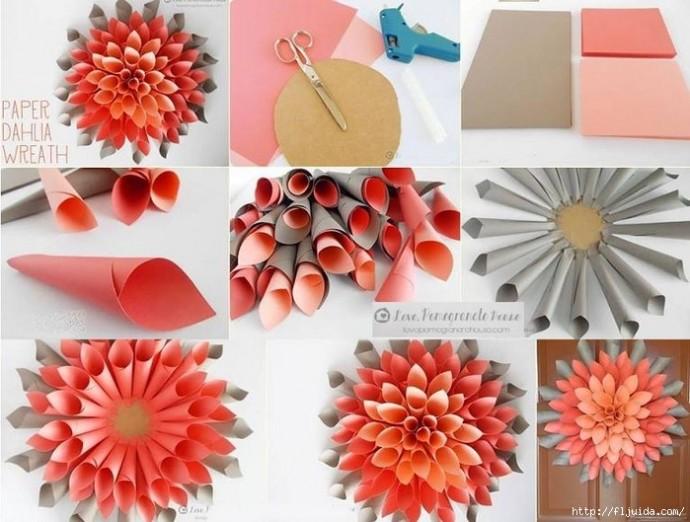 Цветок из бумаги 3