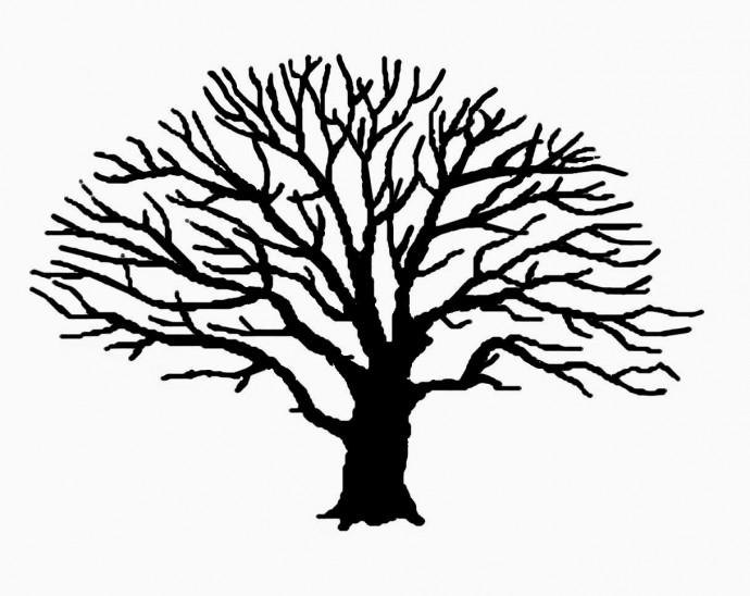 Рисуем листву дерева отпечатками пальцев 9