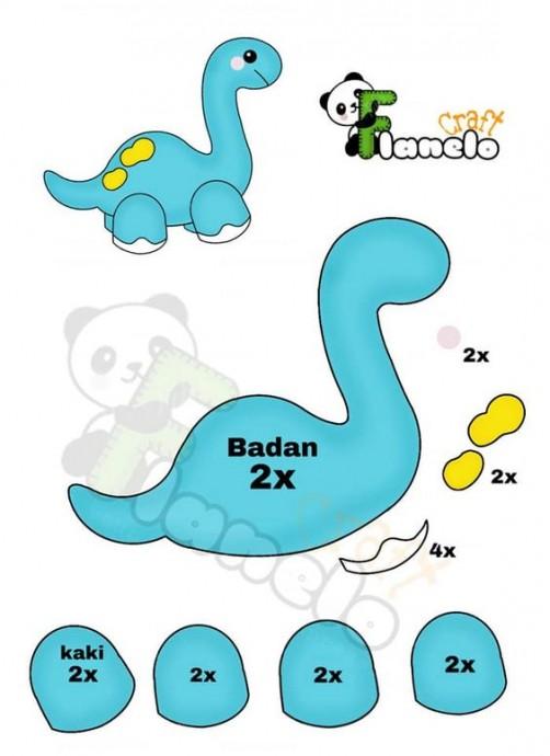 Динозавры из фетра 5