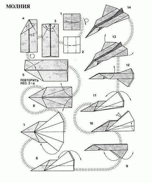 Модели самолетиков из старых газет
