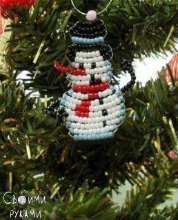Новогоднее плетение из бисера