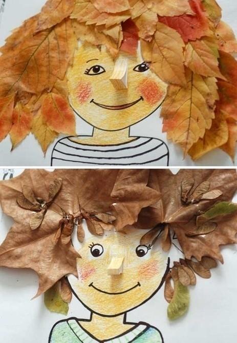 Прическа из листьев