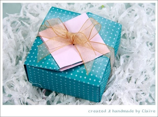 Подарочная коробочка в технике оригами