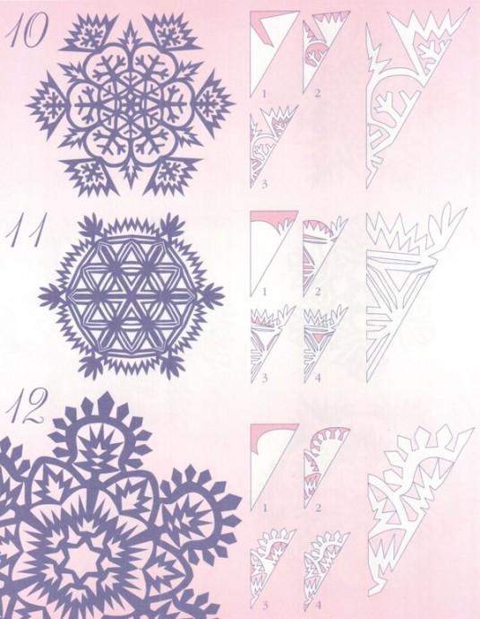 Прocтые схемы красивых снежинок 5