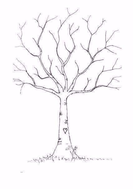 Рисуем листву дерева отпечатками пальцев 3