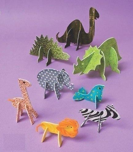 Животные из картона