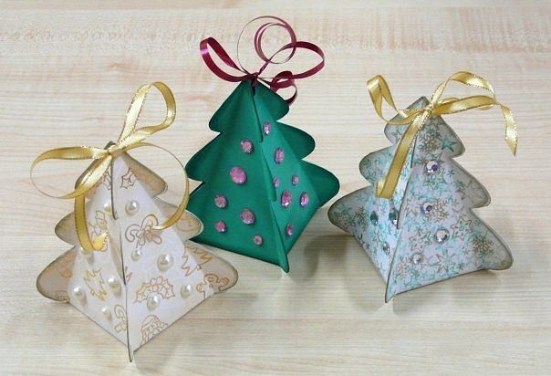 Упаковка подарка в виде ёлочки 2