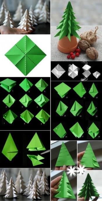 Ёлочка-оригами 0