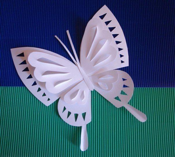 Бабочка из бумаги: техника киригами 4