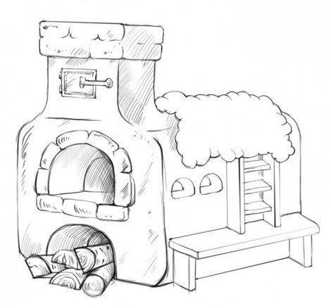 Рисуем печь 3