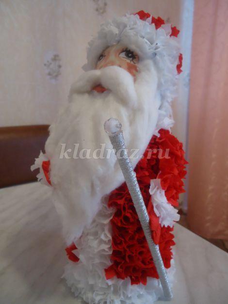 Дед Мороз в технике торцевания
