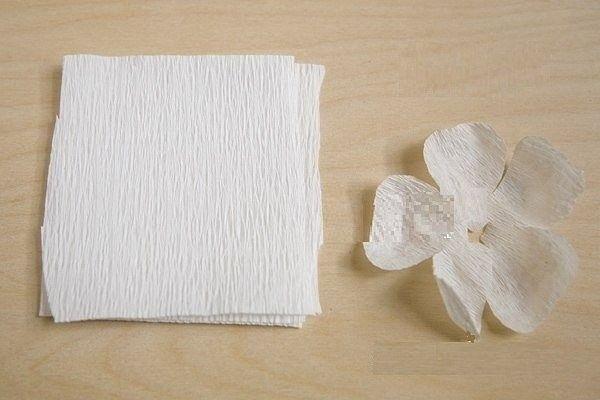 Маки из гофрированной бумаги