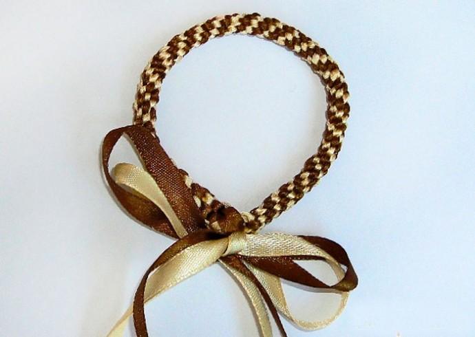 Плетение плотного тугого браслетика