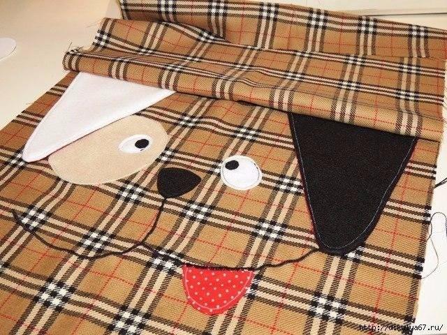 Подушка в виде собачки
