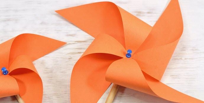 Самодельный ветряк из бумаги