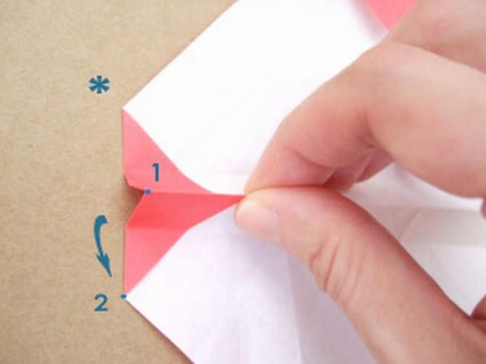 Делаем розу оригами 2