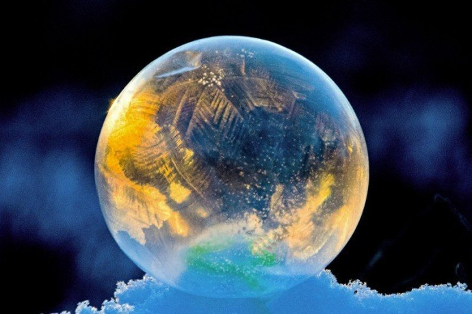 Замерзшие мыльные пузыри 3
