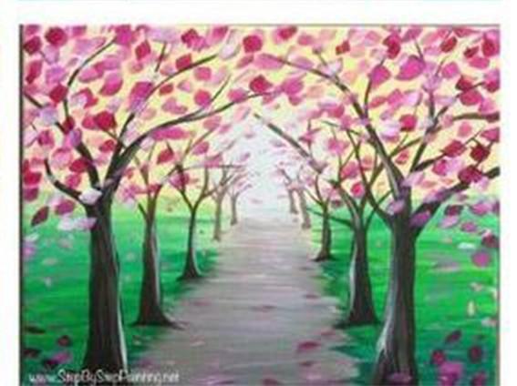 Рисуем весенний пейзаж