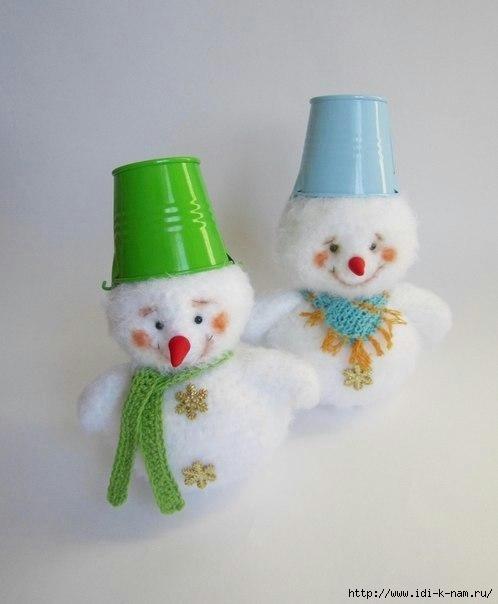Вязаный снеговик 0