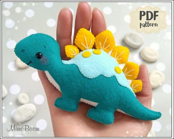Динозавры из фетра 1