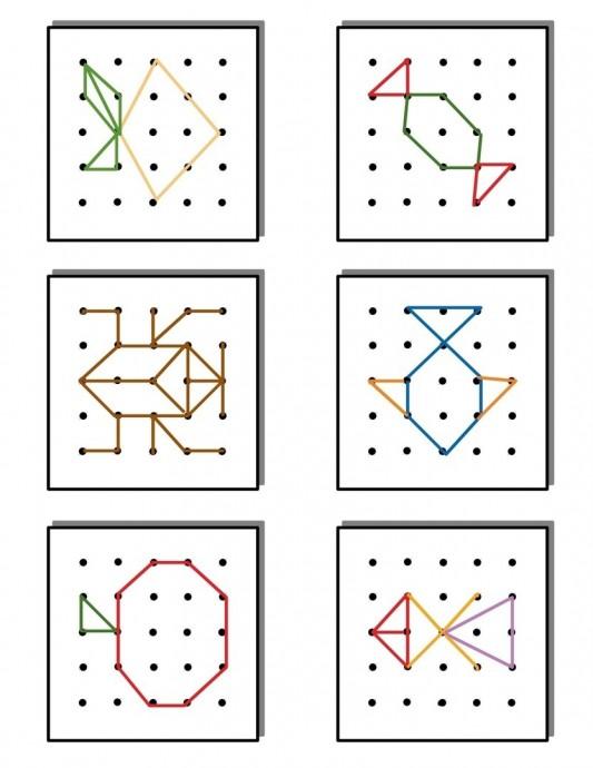Геоборд: схемы для творчества с детьми