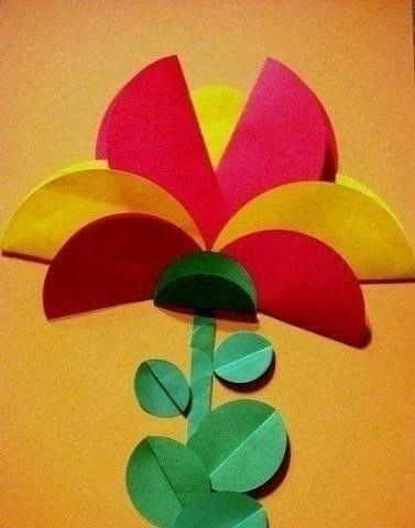 Идеи поделок из кружков цветной бумаги