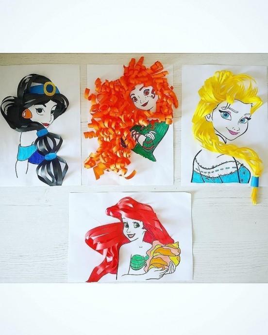 Идеи создания объемных волос для принцесс