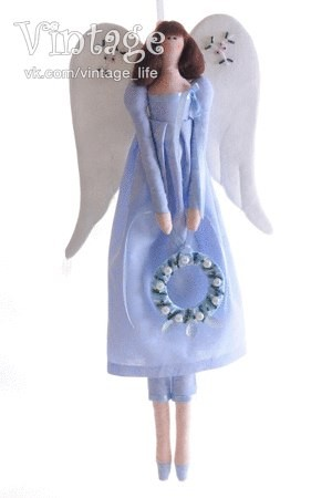 "Кукла тильда ""Винтажный ангел"""