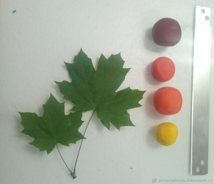 Как сделать настоящий кленовый листик из полимерной глины