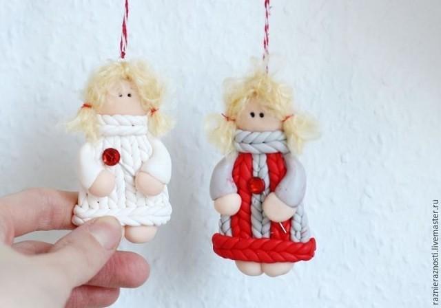 Лепим новогодних ангелочков на елочку