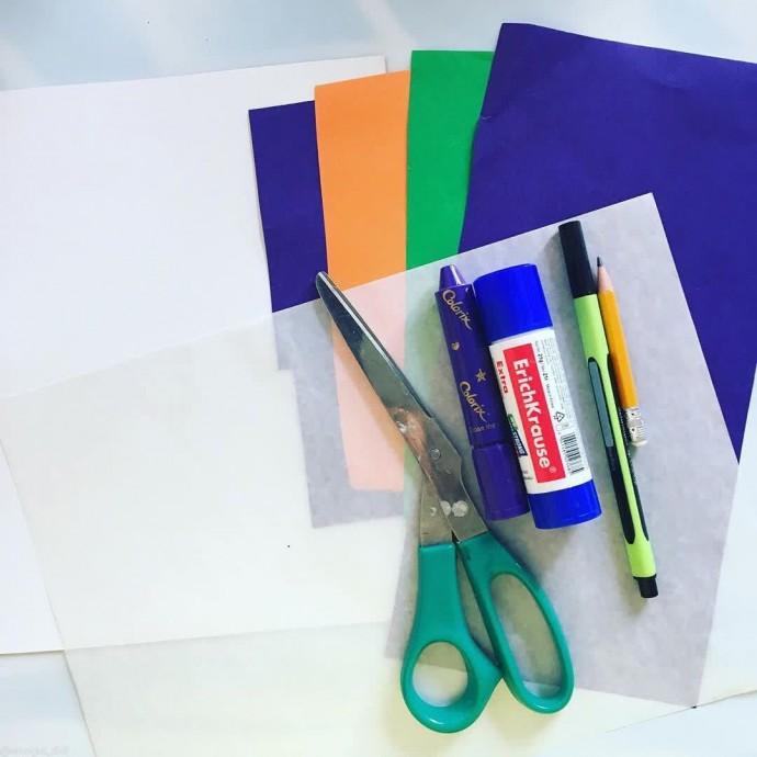 Объемная сирень из цветной бумаги