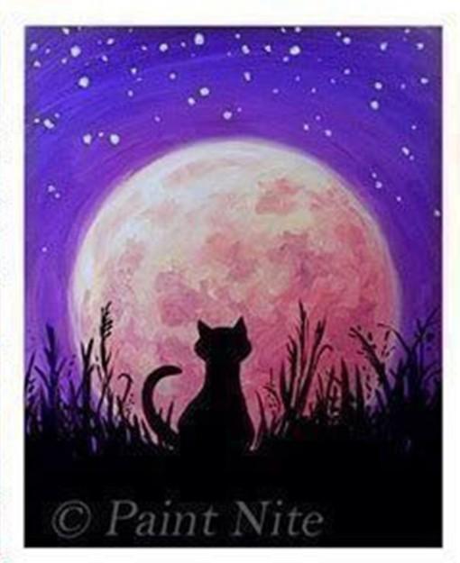 Рисуем ночную кошку