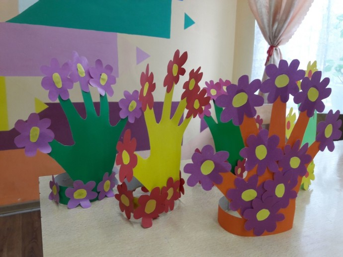 Цветочные ладошки от нашей подписчицы