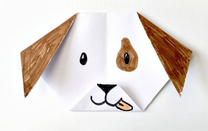Собачка оригами 0