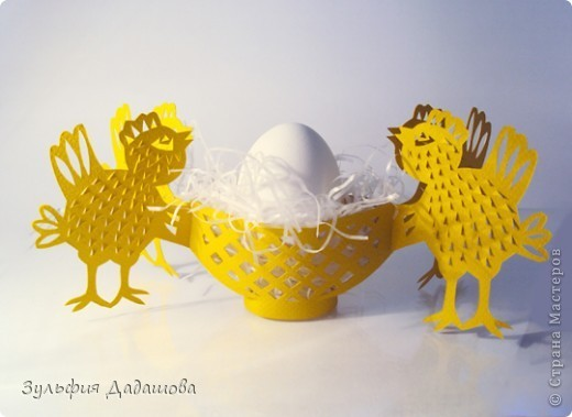 Пасхальная корзинка с цыплятками
