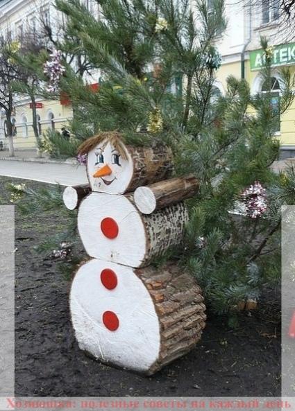 Как сделать с детьми снеговика, если нет снега 3
