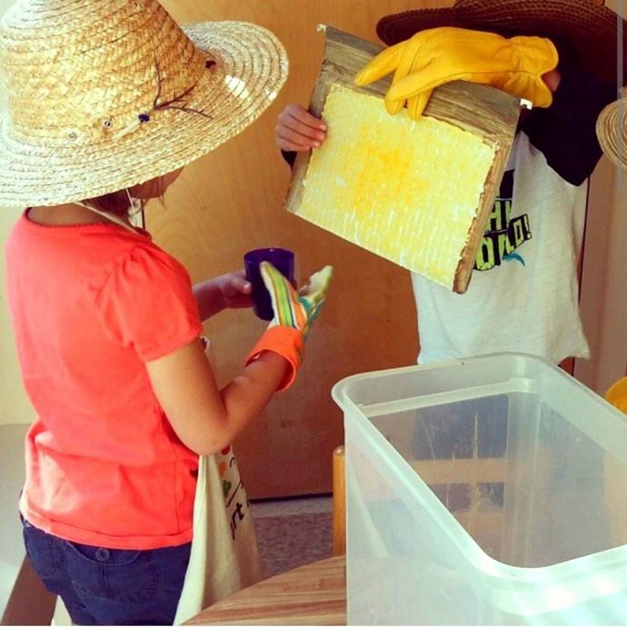 Как устроить с детьми игру в сбор мёда