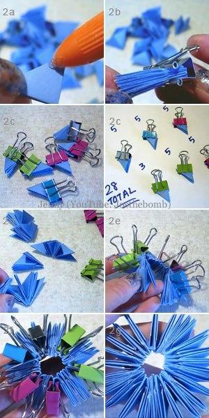 Совушка в технике модульное оригами 2
